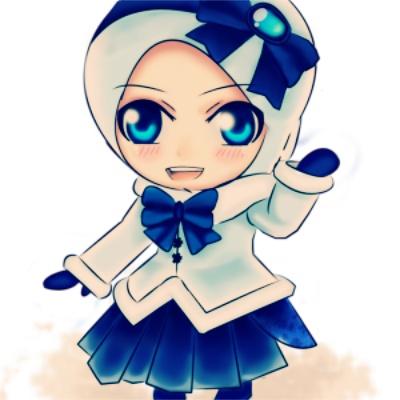 Kartun Chibi Muslimah Comel Lucu Gambar