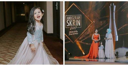 Kecomelan Princess Aaisyah Dhia Rana Di Anugerah Skrin 2017 Curi Perhatian Ramai