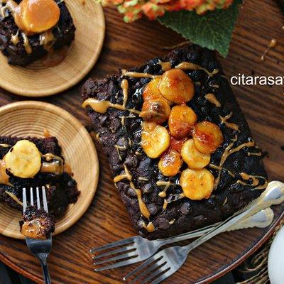 Kek Chocolate Pisang Moist