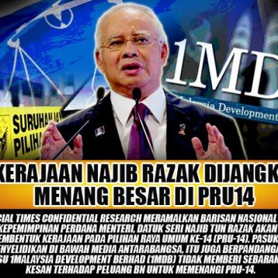 Kerajaan Najib Razak Dijangka Menang Besar Di Pru14