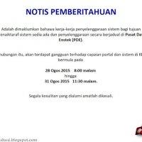 Kerja Kerja Penyelenggaraan Sistem Bagi Kementerian Pendidikan Malaysia Bermula