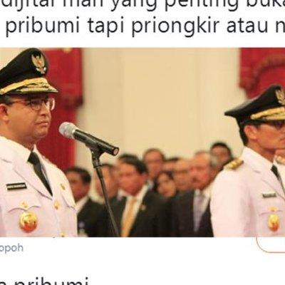 Kocak Ini Reaksi Warganet Soal Pidato Pribumi Gubernur Baru Jakarta