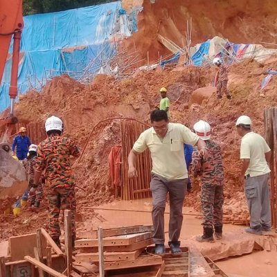 Landslide At Tanjung Bungah This Time No Rainfall