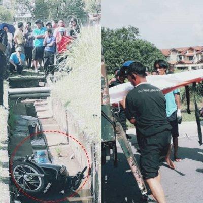 Lelaki Indonesia Maut Selepas Motosikal Terbabas Masuk Parit