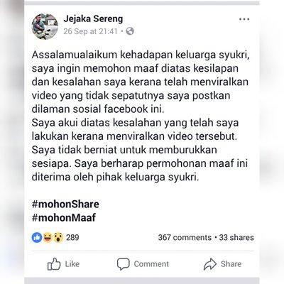 Lelaki Muat Naik Video Anak Pukul Ibu Mohon Maaf