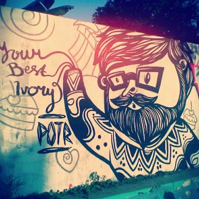 Bahasa) Mural Lukisan Dinding Animasi Kartun Untuk Dekorasi Kamar ...
