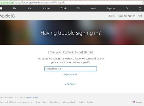 Lupa Password iCloud iPhone