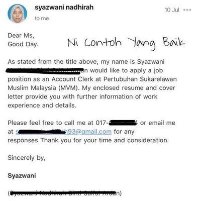 Macam Mana Cara Nak Mintak Kerja Melalui Email