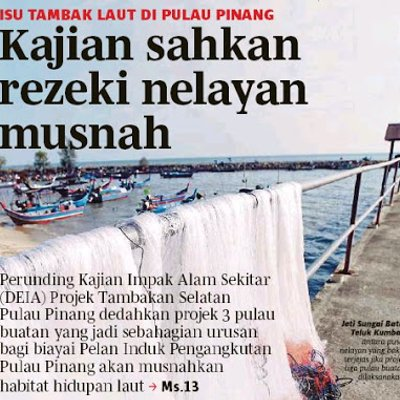 Mahathir Balun Forest City Tapi Projek Tambak Pulau Kerajaan Dap Lagi Besar Senyap