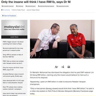 Mahathir Tok Kok Yet Again