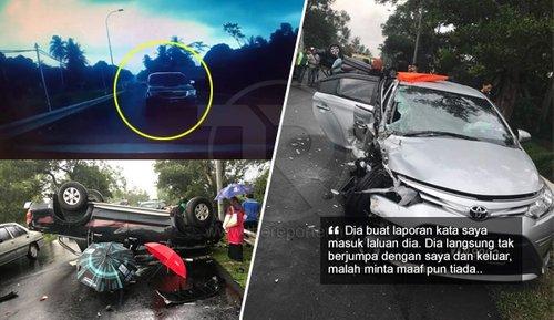 Malang Nasib Warga Emas Bukan Sahaja Kereta Dirempuh Hilux Tetapi Difitnah Menjadi Punca Kemalangan