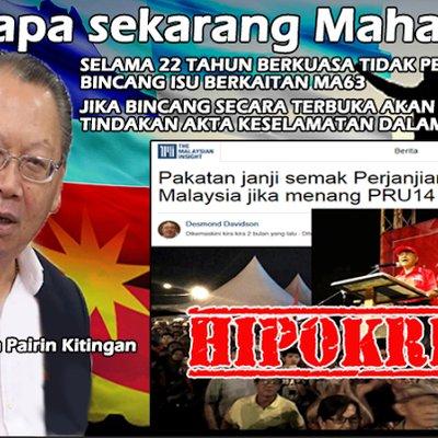 Masa 22 Tahun Ada Kuasa Tun M Tidak Pernah Membincangkan Isu Ma63 Untuk Rakyat Sabah Dan Sarawak