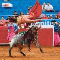 Matador Wanita Terselamat Ditanduk 2 Kali
