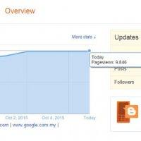Menghampiri Target 10k Pageviews Blog Sehari
