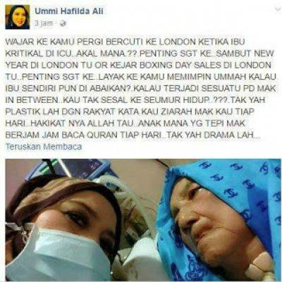 Menteri Besar Pinggirkan Ibu Jadi Bahan Viral Media Sosial Najibrazak Tunfaisal