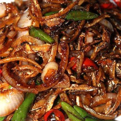 Nak Lauk Ringkas Dan Mudah Resipi Ikan Bilis Masak Kicap Cili Padi Makan Dengan Bubur Nasi Siap