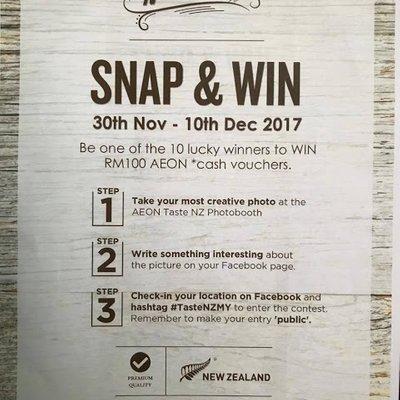 Nzte Taste Of New Zealand Aeon Sa Henry Di Nobat Pemenang Cabaran Memasak Blogger