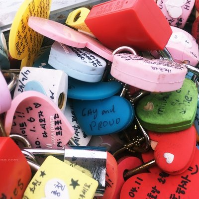 Of The Love Locks At Namsan Seoul Tower