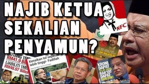 Image result for Gambar rakyat tolak najib