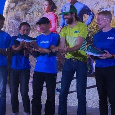 Pelari Ultra Maraton Michael Wardian Hadiri Peluncuran Sepatu Hoka One One