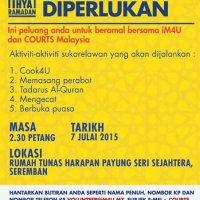 Peluang Beramal Bersama Courts 1m4u Di Bulan Ramadhan Ini