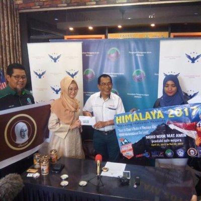 Pendaki Solo Negara Terima Sumbangan Rm3000 Malaysia Aktif 20 4 2017