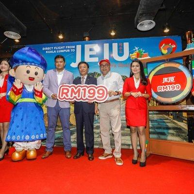 Penerbangan Airasia X Terus Ke Jeju Dari Kuala Lumpur