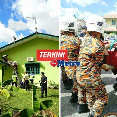 Penjenayah Tersangkut Di Bumbung Ditangkap Abang Abang Bomba