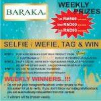 Peraduan Selfie Bersama Susu Kambing Baraka