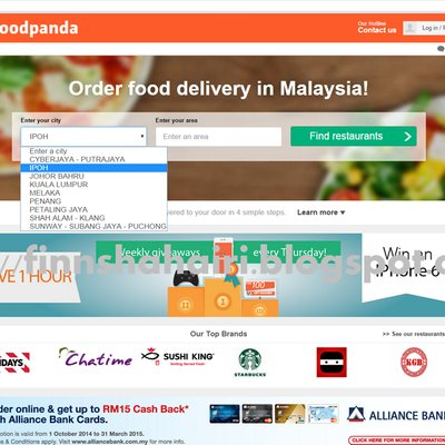 Food Delivery Area Bangi