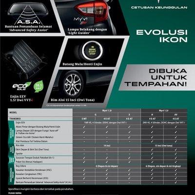 Perodua Myvi 2018 Cetusan Keunggulan