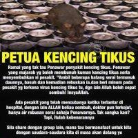 Petua Kencing Tikus