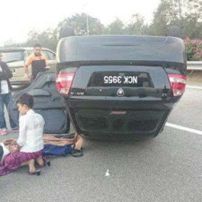 Pramugari Malindo Air Cedera Kemalangan Jalan Raya Menuju Klia