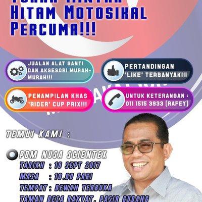 Program Tukar Minyak Motor Hitam Motorsikal Percuma 16 September 2017
