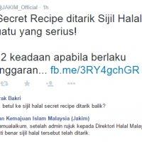 Punca Sebenar Jakim Tarik Balik Sijil Halal Secret Recipe