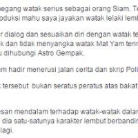Punca Watak Mat Yam Lakonan Amerul Afendi Jadi Perhatian