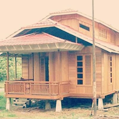 rekabentuk esklusif rumah rumah kampung yang tampak cantik