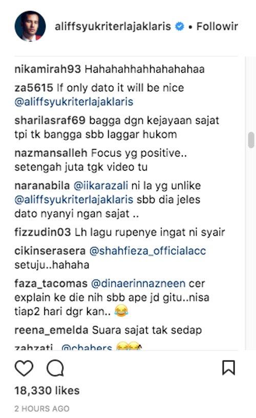 Rentetan Video Lagu Dato Aliff Syukri Berjaya Dapat 25 000 Unlike Ini Respon Drastik Beliau Sungguh Mengejutkan