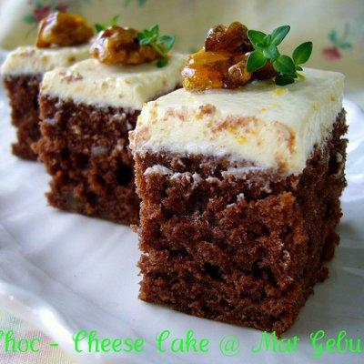 Resepi Cara Buat Choc Cheese Cake Sedap