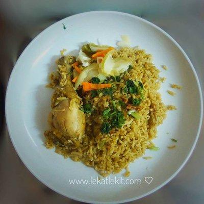 Resepi Nasi Beriani Darurat Yang Teramat Senang Nak Masak
