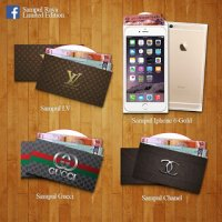 Sampul Duit Raya 2015 Design Iphone 6 Gold Lv Gucci Chanel Purse