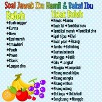 Senarai Makanan Dan Minuman Larangan Ketika Berpantang