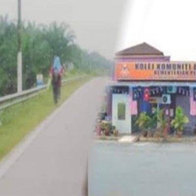 Seorang Cikgu Terpaksa Berjalan Kaki 40km Tiap Hari Demi Tugas