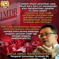 Siasatan Pac Ke Atas 1mdb Tidak Akan Diberhentikan Rahman Dahlan