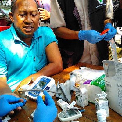 Sopir Angkutan Lebaran Di Makassar Diperiksa Urine Hingga Kolesterol