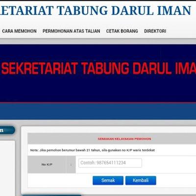 Tabung Darul Iman Untuk Rakyat Terengganu Memohon Bantuan Kewangan