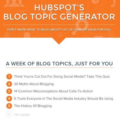 Tak Tahu Nak Tulis Apa Dekat Blog Dapatkan Idea Dari Hubspot