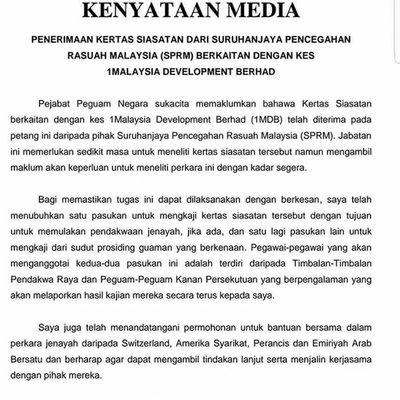 Terkini Kenyataan Media Terbaru Peguam Negara Buatkan Najib Makin Ketakutan
