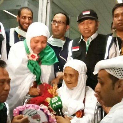 Tiba Di Saudi Jemaah Haji Tertua Asal Indonesia Disambut Bak Selebritas