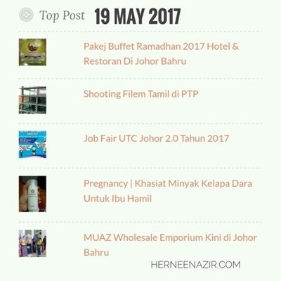 Top Post 19 May 2017
